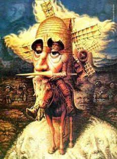 Don Quichotte, auteur de Cervantès ... ou l'inverse ? (peinture de Dali)