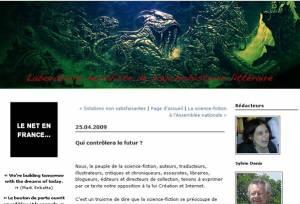 Le Manifeste des auteurs français de science-fiction contre Hadopi