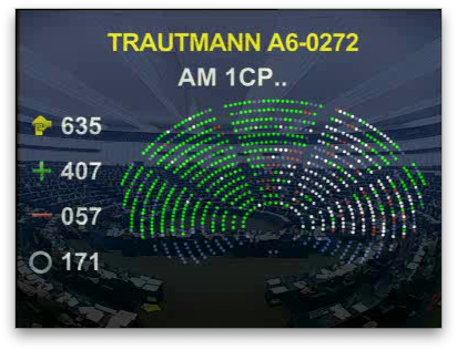 Vote de l'amendement Bono au Parlement Européen