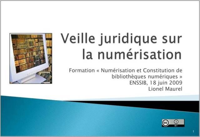 Veille juridique sur la numérisation