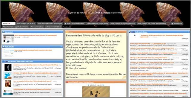 L'Univers de veille de S.I.Lex : Droit & Sciences de l'information