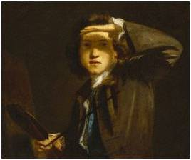 Sir Joshua Reynolds, by Sir Joshua Reynolds, circa 1747-1749 - NPG 41 - © National Portrait Gallery, London  © National Portrait Gallery, London... ha bon, je pensais naïvement que c'était un tableau de Reynolds ...