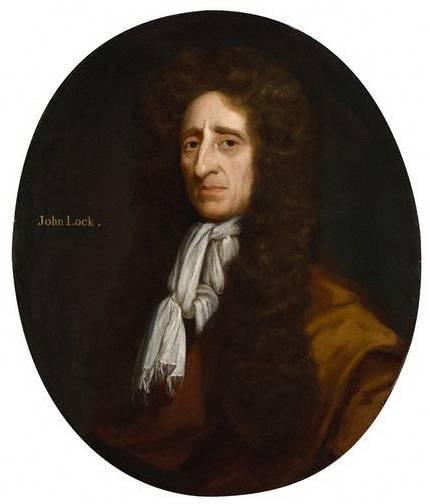 John Locke par Micheal Dahl, 1696. Les idées du philosophe John Locke ont grandement contribué à justifier l'existence du droit de propriété intellectuelle sur les fruits du travail de la pensée.