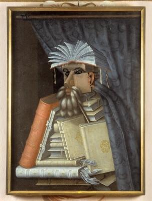 Le Bibliothécaire. Par Arcimboldo. Domaine public.