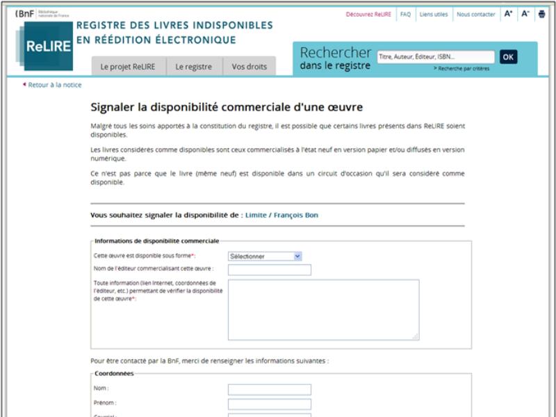 De La Loi Sur Les Indisponibles Au Registre Relire La Blessure L