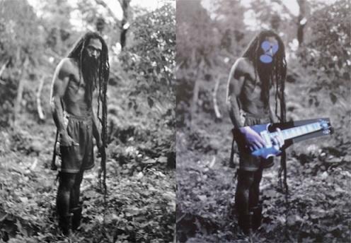 A gauche, une des photographies originales de Patrick Cariou. A droite, ce qu'en a fait Richard Prince.