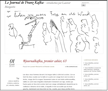 Le journal de Franz Kakfka - retraduction par Laurent Margantin.