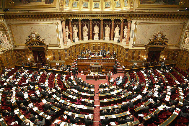 Hémicycle du Sénat. PAr Sénat Sénat. CC-BY-NC-ND. Source : Flickr