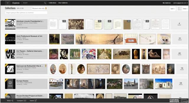 Le site du Google Cultural Institute